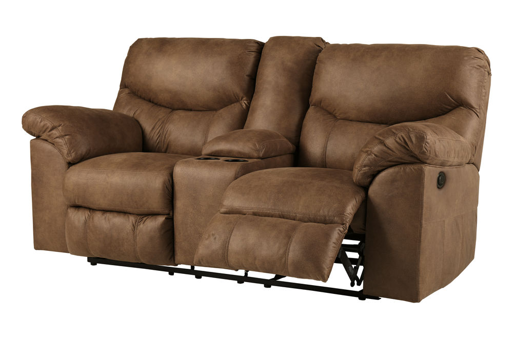 Signature Design by Ashley Boxberg-Bark Power Reclining Loveseat- Reclining View
