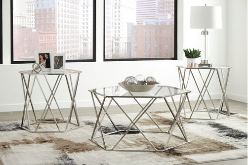 Signature Design by Ashely Madanere Coffee and End Table Set- Room View