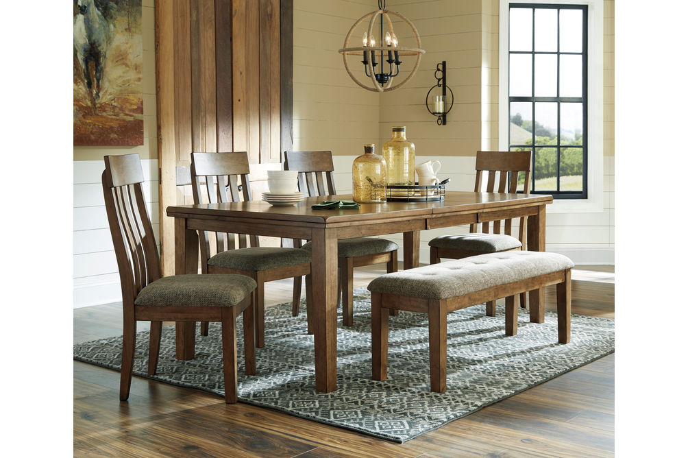 Benchcraft Flaybern 6-Piece Dining Set- Room View