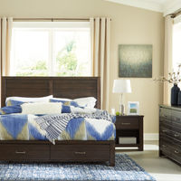 Signature Design by Ashley Darbry 6-Piece King Bedroom Set- Room View