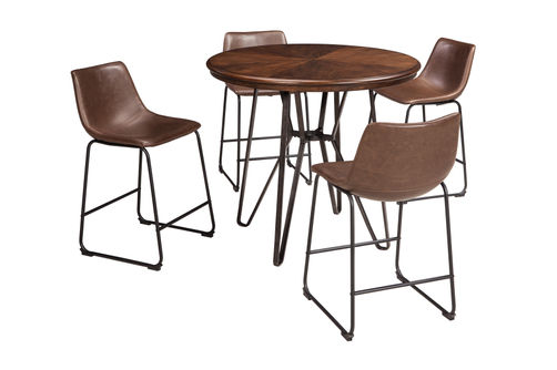 Signature Design by Ashley Centiar 5-Piece Counter-Height Dining Set