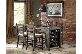 Signature Design by Ashley Rokane 5-Piece Counter-Height Dining Set- Room View
