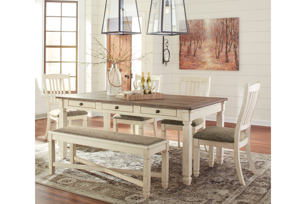 Rent To Own Signature Design By Ashley Bolanburg 6 Piece Dining Set