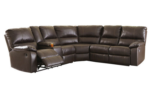Signature Design by Ashley Warstein-Chocolate 3-Piece Reclining Sectional- Reclining View