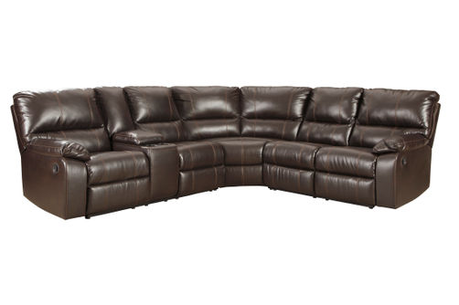 Signature Design by Ashley Warstein-Chocolate 3-Piece Reclining Sectional