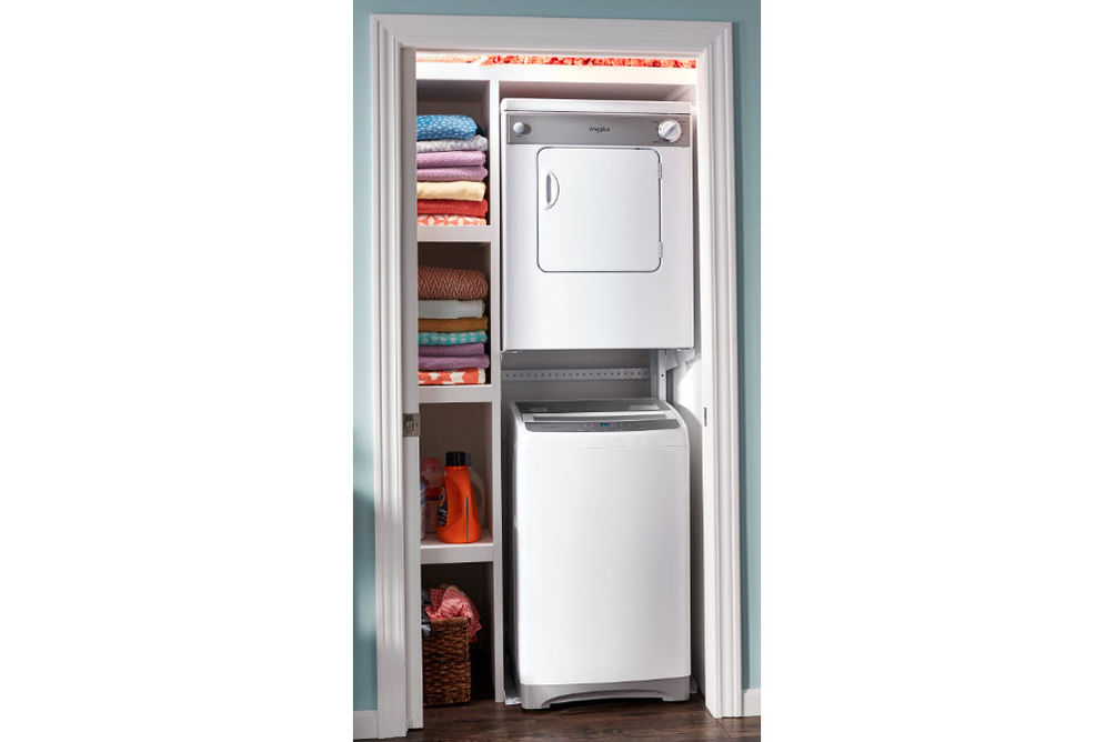 Whirlpool 1.6 Cu. Ft. Top-Load Compact Washer and 3.4 Cu. Ft. Compact Dryer- Stackable View