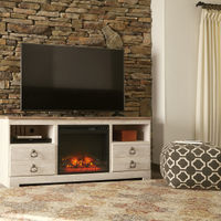 """Signature Design by Ashley """"Willowton"""" 63 Inch Electric Fireplace TV Stand"""