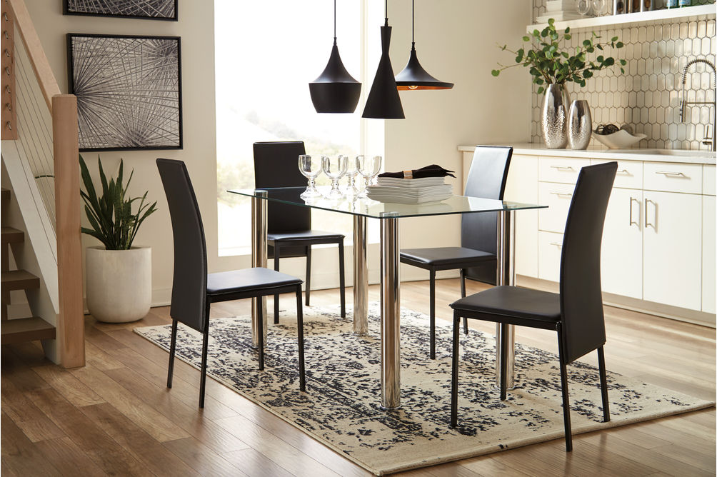 Signature Design by Ashley Sariden 5-piece Dining Set- Room View