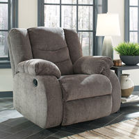 Signature Design by Ashley Tulen-Gray Rocker Recliner- Room View