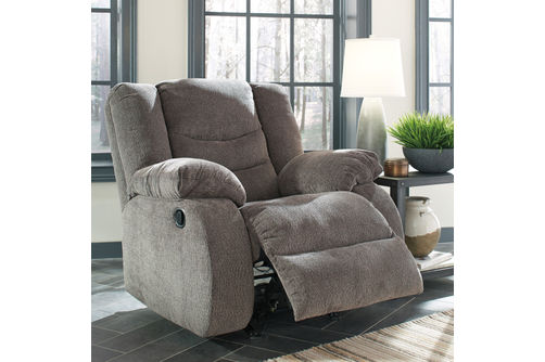 Signature Design by Ashley Tulen-Gray Rocker Recliner- Alternate Room View
