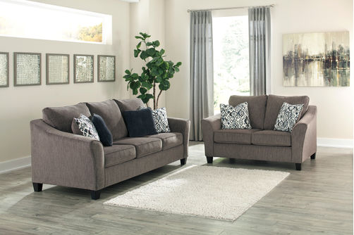Signature Design by Ashely Nemoli-Slate Sofa and Loveseat- Room View