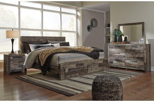 Rent To Own Benchcraft Derekson 6 Piece King Bedroom Set