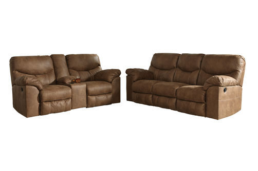 Signature Design by Ashley Boxberg-Bark Reclining Sofa and Loveseat
