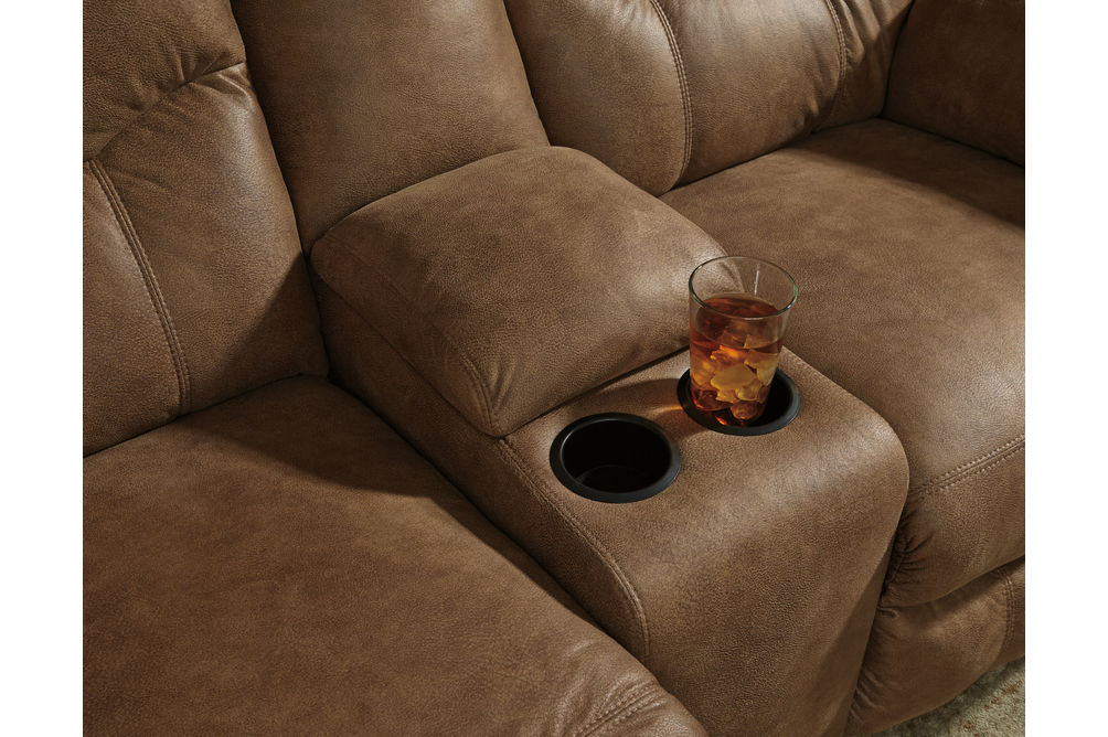Signature Design by Ashley Boxberg-Bark Reclining Sofa and Loveseat - Cup Holders