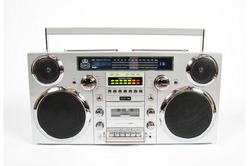GPO 80W Brooklyn Retro Boombox Portable Sound System