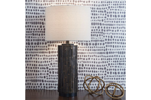 Signature Design by Ashley Mayka Lamp Set- Room View