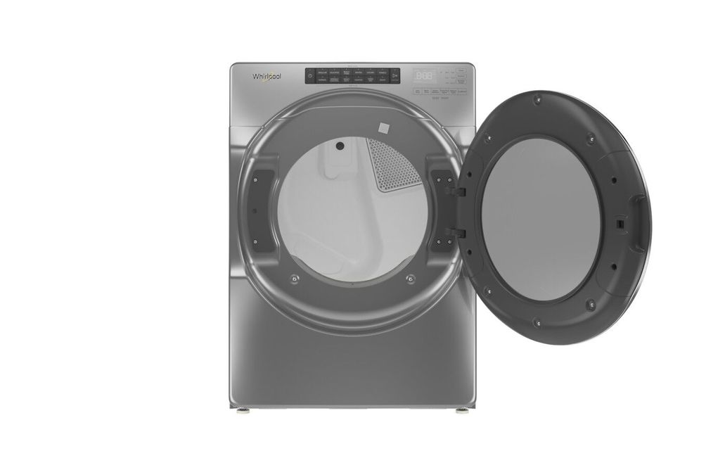 Whirlpool Chrome 7.4 Cu. Ft. Electric Dryer  - Open View