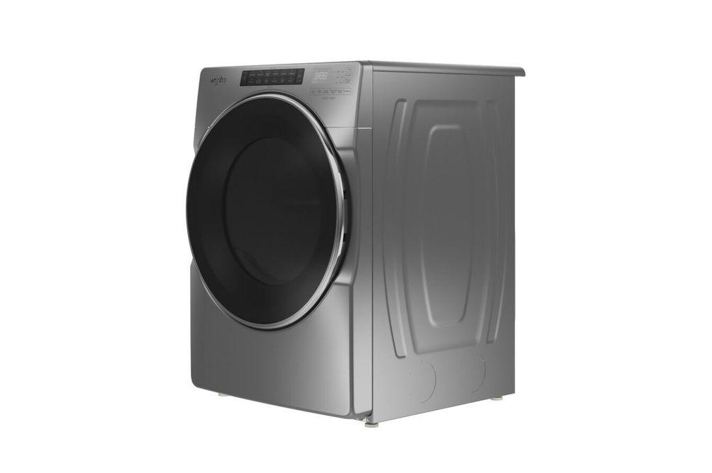 Whirlpool Chrome 7.4 Cu. Ft. Electric Dryer - Side Angle View