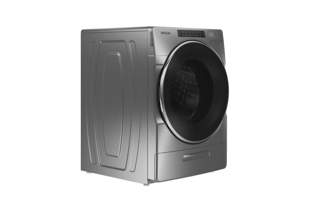 Whirlpool Chrome 4.5 Cu. Ft. Front Load Washer - Side Angle View