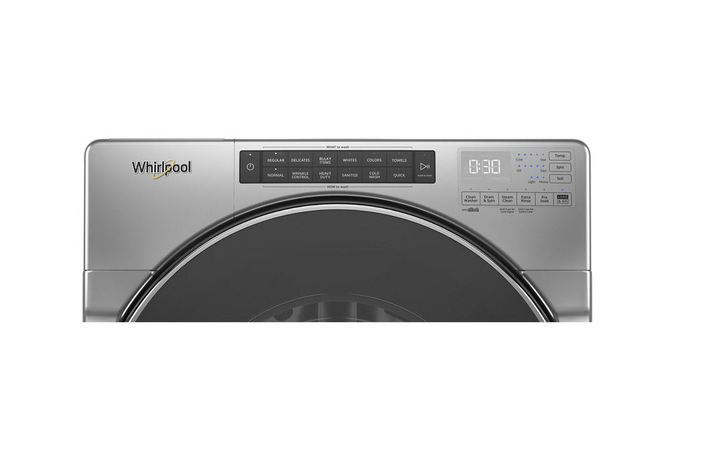 Whirlpool Chrome 4.5 Cu. Ft. Front Load Washer - Washer Controls