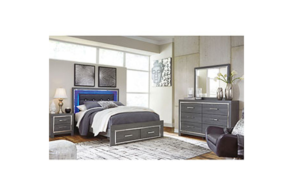 Signature Design by Ashley Lodanna 6-Piece Queen Bedroom Set- Heaboard Lighting