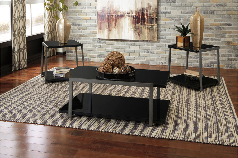 Signature Design by Ashley Rollynx Coffee Table Set- Room View