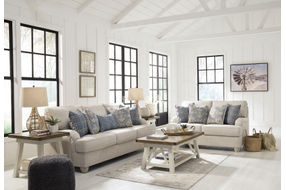 Benchcraft Traemore-Linen Sofa and Loveseat - Room View