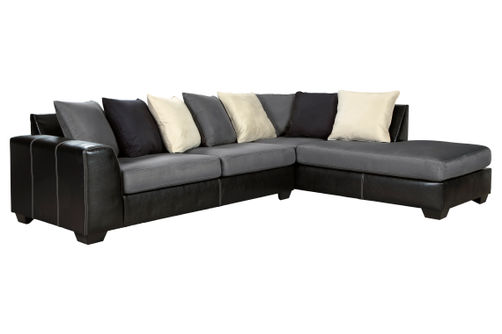 Ashley Jacurso-Charcoal RAF Chaise Sectional
