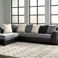 Ashley Jacurso-Charcoal LAF Chaise Sectional- Room View