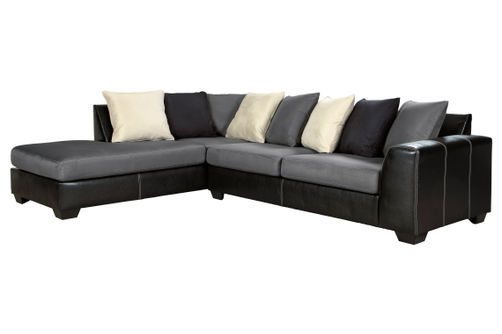 Ashley Jacurso-Charcoal LAF Chaise Sectional