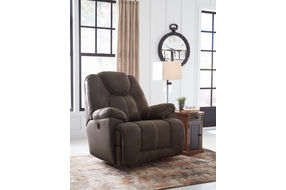 Signature Design by Ashley Warrior Fortress-Coffee Power Rocker Recliner- Room View