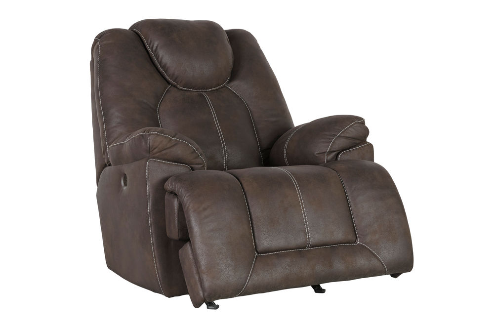 Signature Design by Ashley Warrior Fortress-Coffee Power Rocker Recliner
