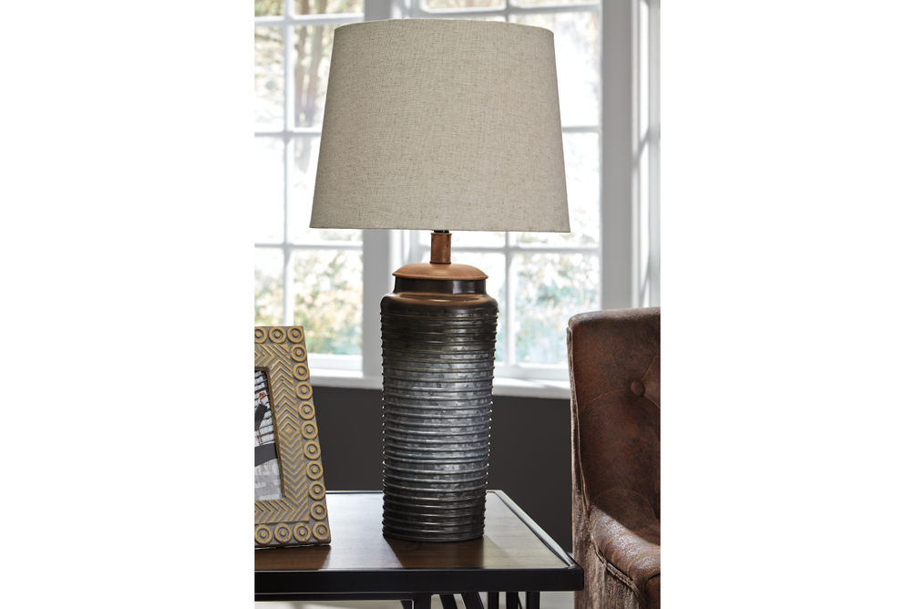 Signature Design by Ashley Norbert Lamp Set- Room View