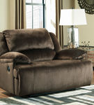 Signature Design by Ashley Clonmel-Chocolate Zero Wall Recliner- Room View
