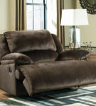 Signature Design by Ashley Clonmel-Chocolate Zero Wall Recliner- Reclining View
