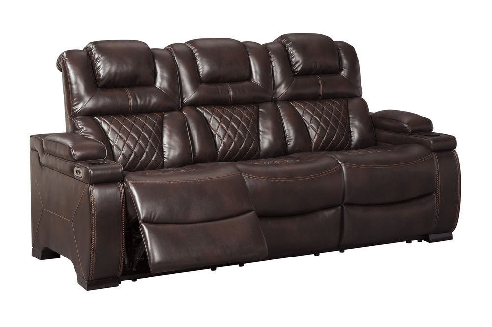 Signature Design by Ashley Warnerton-Chocolate Power Reclining Sofa