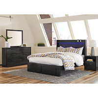 Signature Design by Ashley Faemond 6-Piece Queen Bedroom Set- Room View