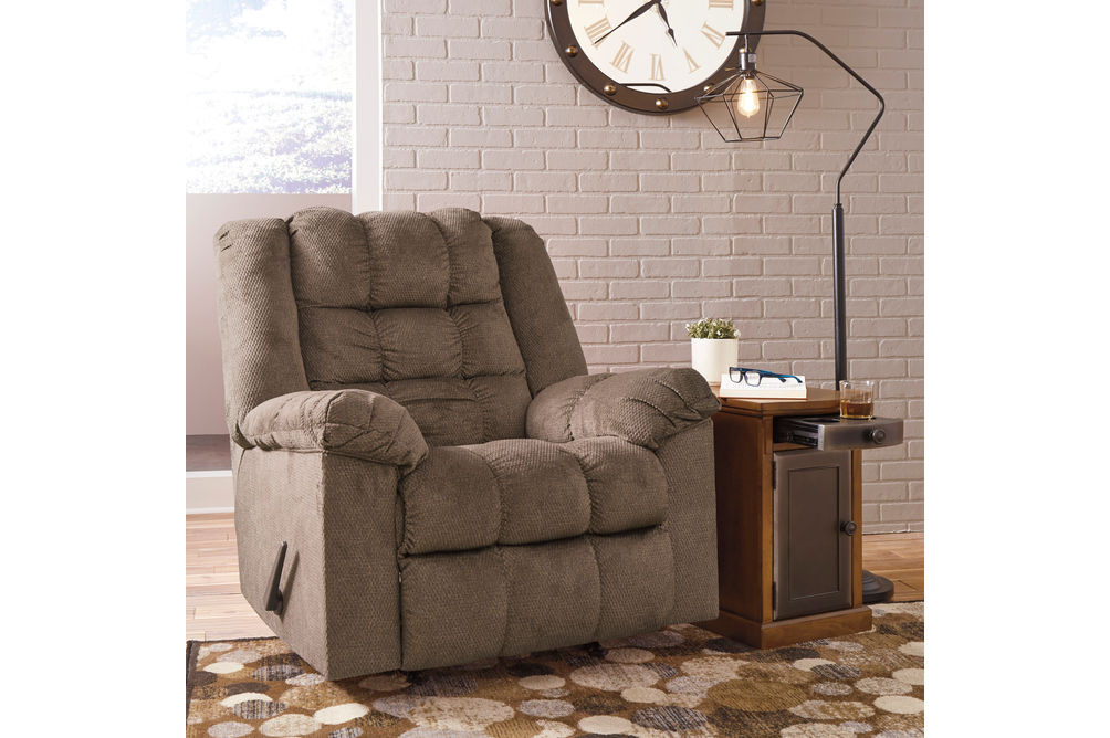 Signature Design by Ashley Drakestone-Autumn Heat and Massage Rocker Recliner- Room View
