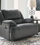 Signature Design by Ashley Clonmel-Charcoal Zero Wall Recliner- Room View