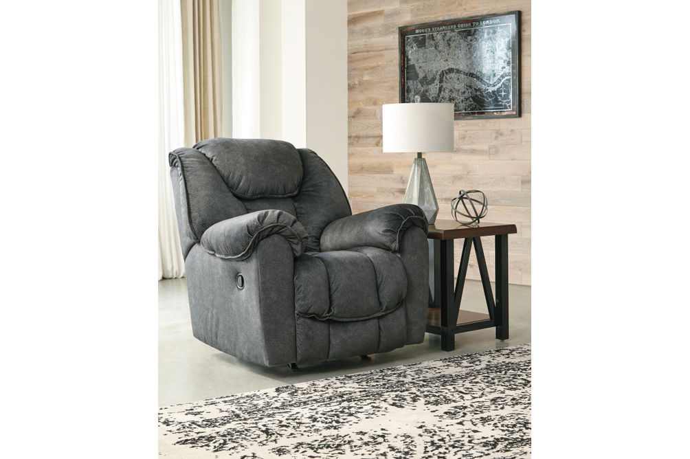 Signature Design by Ashley Capehorn-Granite Rocker Recliner - Room View