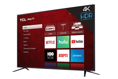 TCL ROKU 65 Inch 4K UHD LED Smart TV 65S425- Angle View