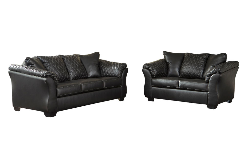 Signature Design by Ashley Betrillo-Black Sofa and Loveseat