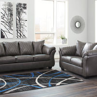 Signature Design by Ashley Betrillo-Gray Sofa and Loveseat- Room View