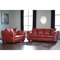 Signature Design by Ashley Betrillo-Salsa Sofa and Loveseat- Room View