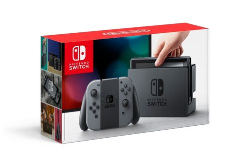 Nintendo Switch with Gray Joy-Con - Sonic Team Racing Bundle