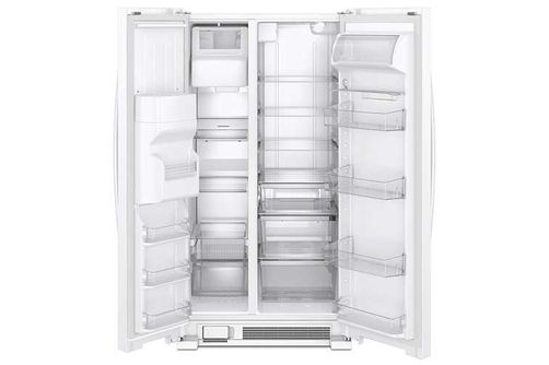 Whirlpool White 21 Cu. Ft. French Door Refrigerator- Open View