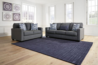 "Benchcraft ""Kiessel Nuvella®-Steel"" Sofa and Loveseat"