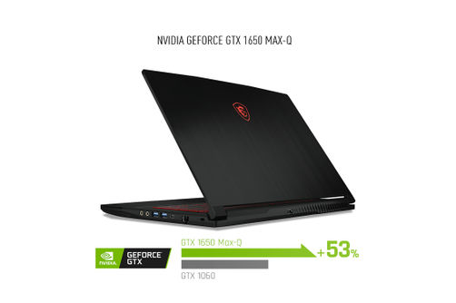 MSI 15.6 Inch i7-9750H Gaming Laptop- Back View
