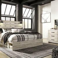 签名设计由Ashley Cambeck 6件国王卧室设置-卧室视图