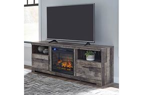 Signature Design by Ashley Derekson 71 Inch Electric Fireplace TV Stand- Room View